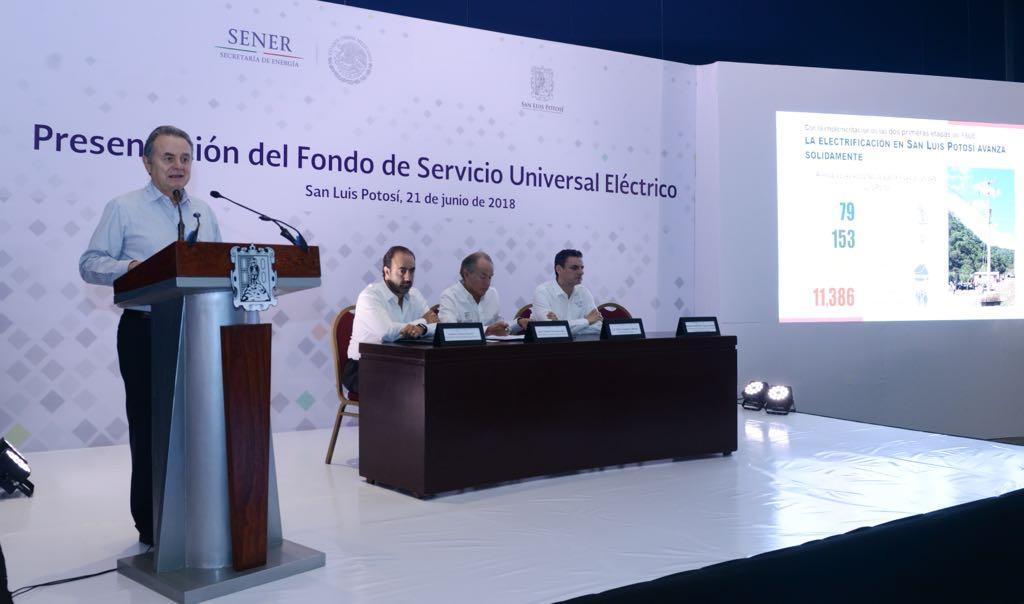San Luis Potosí alcanzará 98% de cobertura eléctrica con el Fondo de Servicio Universal Eléctrico